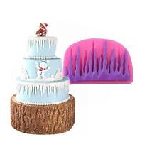 Frozen Icicle Fondant Silicone Mould Icing Cake Decor Snowman Sugarcraft Mold yy