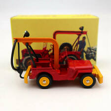 Atlas Dinky Toys 1412 Jeep De Depannage Truck Red Diecast Models Collection Car