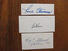 PAUL OWENS/RAY STOVIAK/BERT HAAS  Phillies  Signed Trimmed Index Cards(DECEASED)