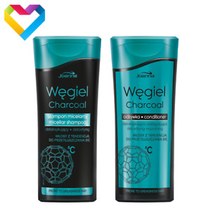 Joanna CHARCOAL Micellar Shampoo Conditioner For Oily Hair Detoxifying 200ml