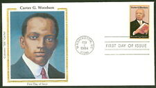 CARTER G. WOODSON FDC COLORANO SILK CACHET
