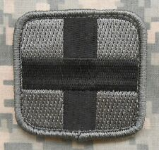 MEDIC SQUARE EMT EMS CROSS ARMY ACU USA DARK VELCRO® BRAND FASTENER PATCH