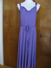 Elie Tahari  Janice women's purple rayon dress Size Large retail $198 NWT