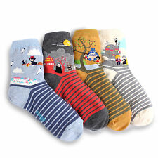 (4Pairs) Miyazaki Animation Socks Ghibli Spirited Away Totoro HOWL KIKI Gifts VJ