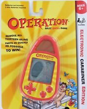 OPERATION Handheld ELECTRONIC GAME Toy Clip-on Carabiner Keychain Retired NEW