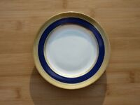 Antique Tiffany & Lenox Blue & Gold Bread Plate