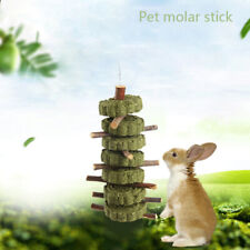 New listing Hamster Teeth Grinding Toys Rabbit Tree Branch Grass Ball Hanging Cage ToyUt7H