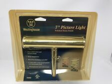 "Westinghouse 7"" Picture Light Polished Brass Finish #75050 New Old Stock"