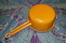 Casserole émaillée orange vintage année 1950/60 L 28 cm très bon état