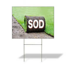 Weatherproof Yard Sign Sod Outdoor Advertising Printing D Green Lawn Garden And