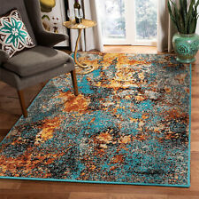 loomBloom Autumn Turquoise Gold  Modern & Contemporary Area Rug Multi Sizes