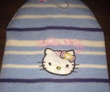 Hello Kitty...Childtens Baby Blue Striped Beanie Winter Knit Hat.. Last One