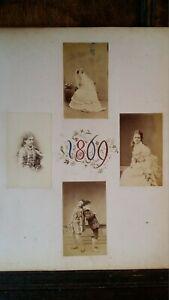 1869 PHOTOGRAPHS MEN IN DRAG ETC CAMBRIDGE UNIVERSITY ADC AMATEUR DRAMATICS CLUB