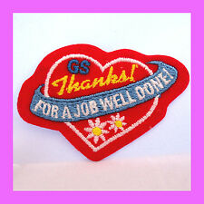 Patch Thank You Volunteers for JOB WELL DONE Girl Scout Heart Appreciation GIFT