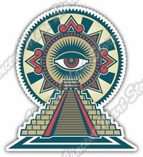 "Mayan Chichen Itza Temple Maya Mexico Aztec Car Bumper Vinyl Sticker Decal 4""X5"""