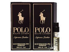 Perfume Vials (Trial Size) ~ Ralph Lauren Polo Supreme Leather 1.5ml EDP x2