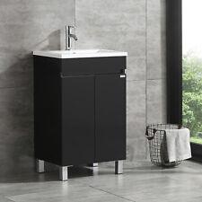 """20"""" Single Bathroom Vanity Set Wood Cabinet w/ Vessel Sink & Faucet Black"""