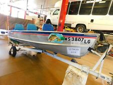 14' Alumacraft aluminum 9.8HP Mercury w/ trailer   T1275610