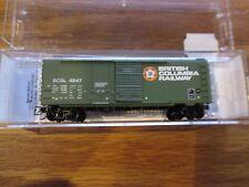 Micro Trains N Scale 022 00 080 British Columbia 40' Standard Box Car # 4947
