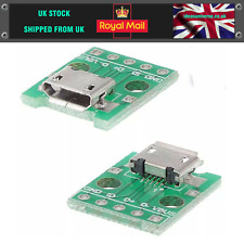 5Pcs Female Micro USB to DIP Adapter Converter 2.54mm PCB Breakout Board FI