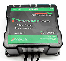 Dual Pro RS2 Waterproof 2 Bank Battery Charger Charging System for Bass Boat