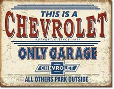 Chevy Only Garage USA Chevrolet Vintage Retro Style Parken Metall Schild