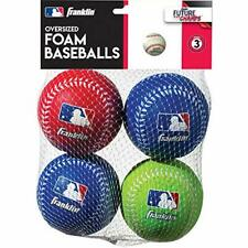Franklin Sports Oversized Foam Baseballs Practice 4 set Blue Red Green, For Kids