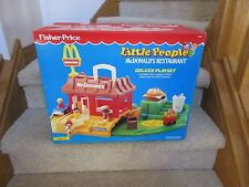 Fisher Price Little People McDonalds 2552 Box Ronald Play family new in box car