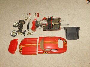 Vintage original Monogram 1/8 Scale JAGUAR XKE Coupe model kit partially built