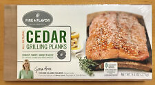 """2 Pack Fire and Flavor Cedar Grilling Planks All Natural Wood 11"""" x 5-1/2"""""""