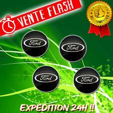 4 Logo Ford Cache Moyeu Centre De Roue Jante Insigne Noir 54mm