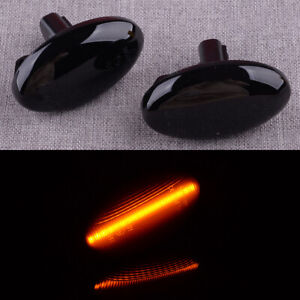 Smoked Lens LED Side Marker Indicators Light Lamp Fit For Subaru Impreza WRX STI