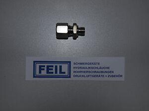 Hydraulik – Einschraubverschraubung GE 8 - L/M 10x1,0 1.4571   DIN 2353