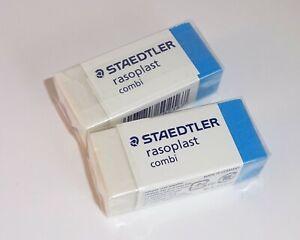 Staedtler Rasoplast Combi Eraser for Ink & Lead - Pencil & Pen Eraser x2