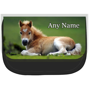 Personalised FOAL/HORSE Pencil Case/Make Up/Cosmetic Bag *Choice Of Text Colour*