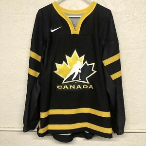 2013 TEAM CANADA IIHF MENS HOCKEY JERSEY SIZE XL LIVESTRONG BLACK PROMO RARE NEW