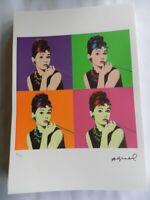 Andy Warhol Litografia cm 35x50 edizione 2010 con fotoautentica