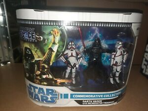 Star Wars The Force Unleashed Commemorative Darth Vader W/ Incinerator Troopers