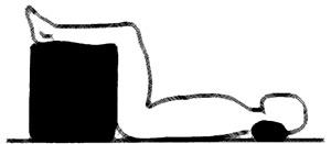 Bandscheibenwürfel, Schaumstoffwürfel 50x45x35 Stufenlagerung Positurkissen