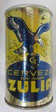 Cz Zulia Tipo Pilsen Straight Steel Beer Can Bo Tab Top Venezuela (33cl)
