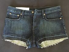 NWT HELMUT LANG $160 New York Denim Jean Shorts, Size 26 but fits 27-28