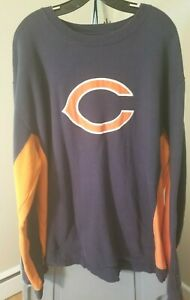 Chicago Bears NFL Reebok Classic Blue & Orange Team Logo 2XL Sweatshirt
