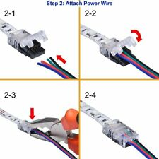Hippo-M 2pin 4pin 5pin Wire to Strip Connector For RGB RGBW Waterproof Tape