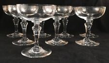 SET OF 8 BACCARAT FRENCH CRYSTAL NORMANDIE PATTERN CHAMPAGNE SHERBET GLASSES