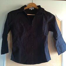 Chemise noir manche 3/4 etam