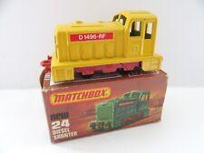 Matchbox Superfast 24c Diesel Shunter - Yellow w/Control Panel - Mint/Boxed