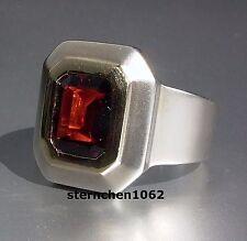 Einzelstück * Ring * 925 Silber * 14 ct Gold * Granat