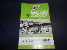 LUTON TOWN F.C. v STOCKPORT COUNTY F.C. PROGRAMME 4TH OCTOBER,1969 (DIVISION 3)