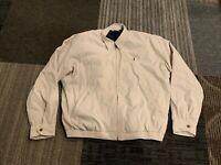Ralph Lauren Polo Golf Mens Large Harrington Plaid Lined Khaki Jacket