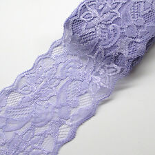 5Yards 8CM Lace Trim Ribbon Bows Appliques Craft Gift Packing Doll R0572